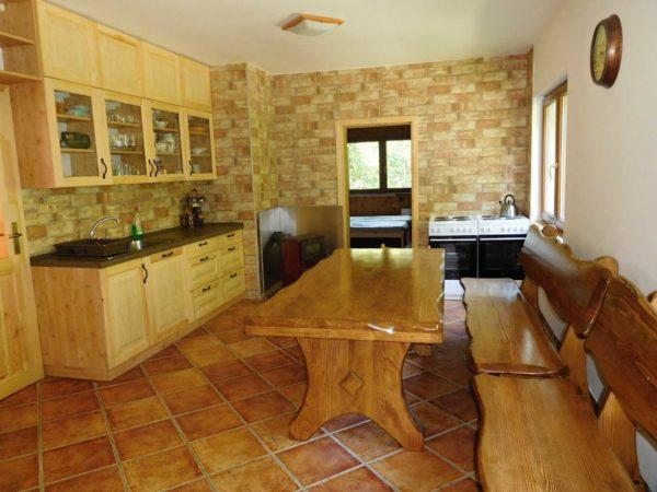 Kuchyne 2 hajenka kolibiska v Beskydech